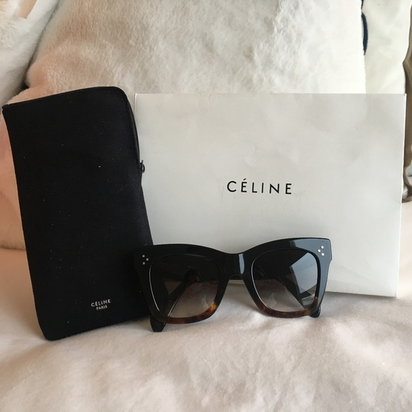 3fb5fbae9450 Celine Accessories | Cline Sunglasses Black Tortoise Brand New ...